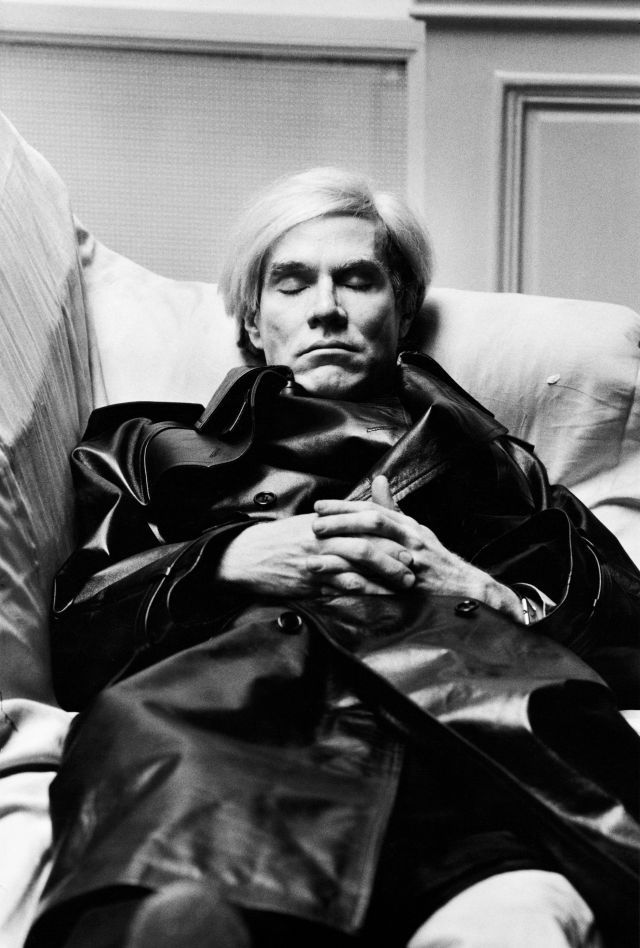 Helmut Newton Andy Warhol, Vogue Uomo Paris 1974 ©Helmut Newton Estate