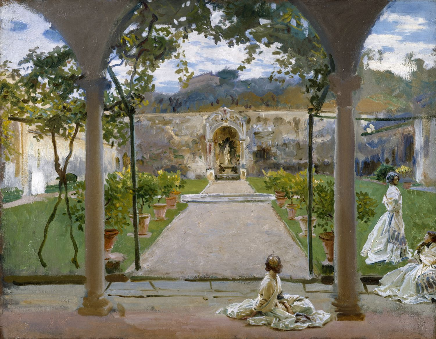 John Singer Sargent (1856-1925) At Torre Galli. Ladies in a Garden, 1910 olio su tela, 71.1x91.5 cm Londra, The Royal Academy of Arts