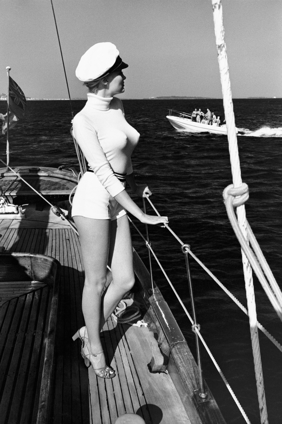 Winnie off the coast of Cannes, 1975,  from the series White Women,© Helmut Newton Estate