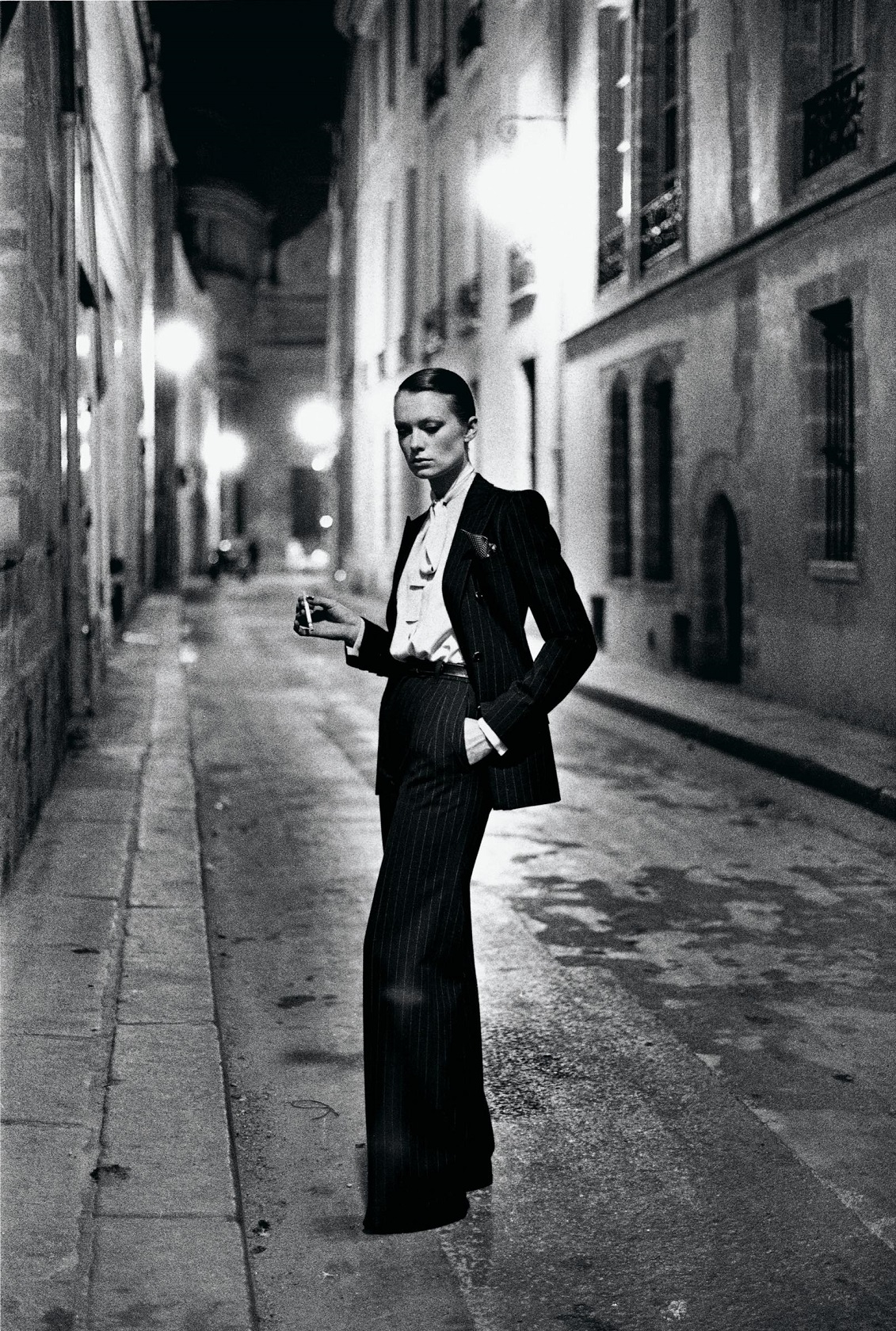 Rue Aubriot, French Vogue from the series White Women, Paris 1975,© Helmut Newton Estate